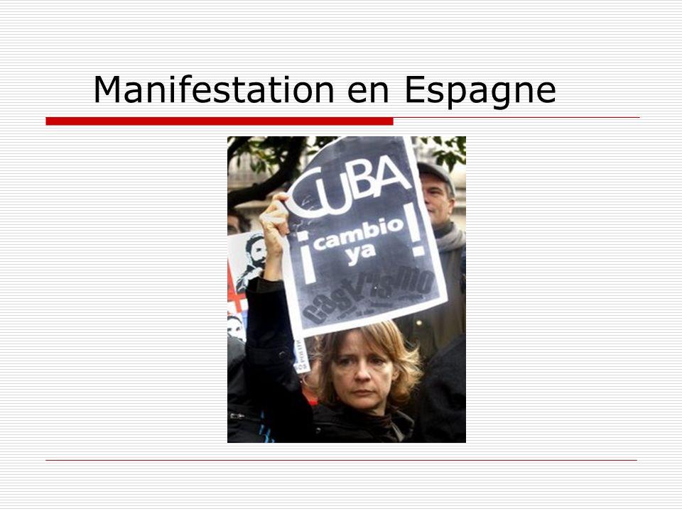 Manifestation en Espagne