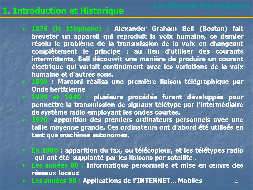 Les Réseaux Informatiques 1.