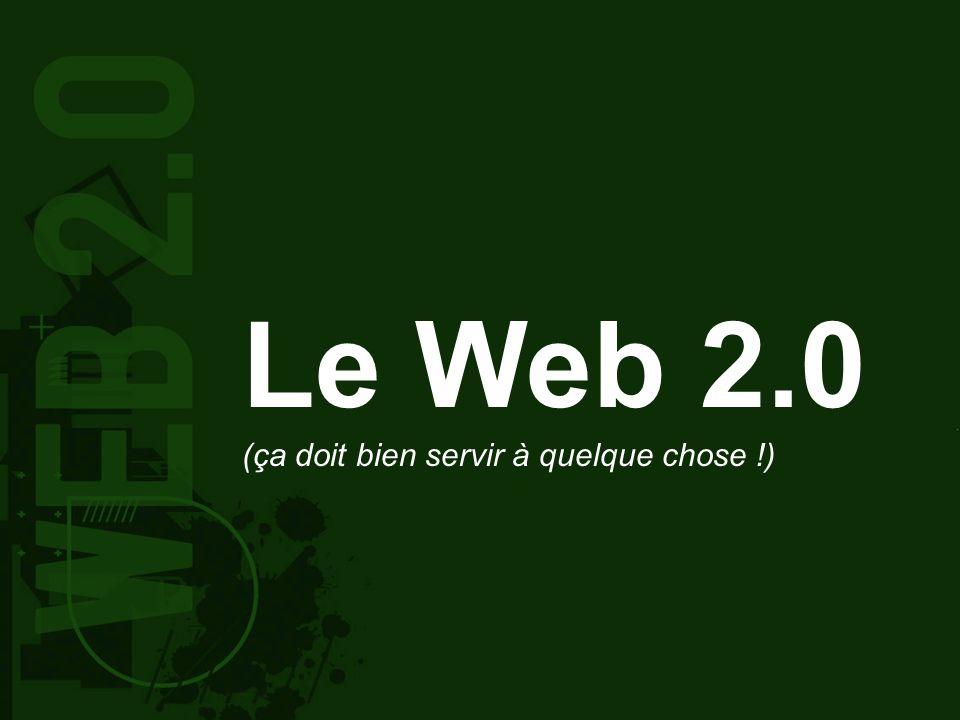 Le Web 2.0 (ça doit bien servir à quelque chose !)