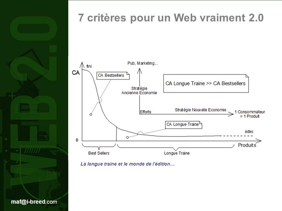 maf@i-breed.com 7 critères pour un Web vraiment 2.0 La longue traine et le monde de lédition…