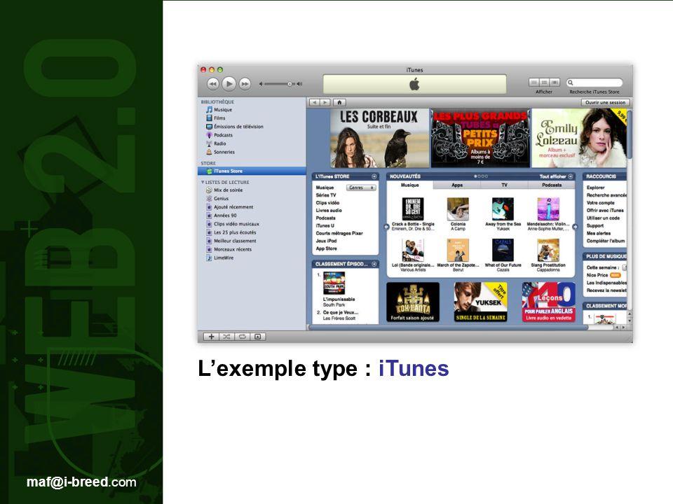 maf@i-breed.com Lexemple type : iTunes
