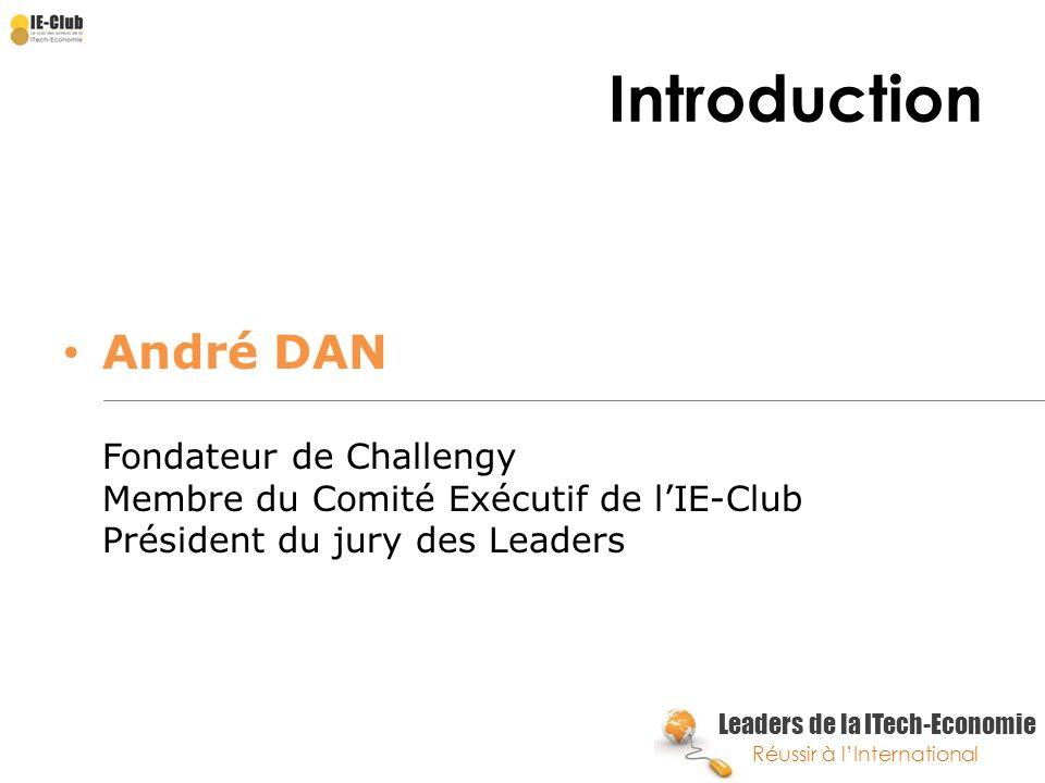 Leaders de la ITech-Economie Réussir à lInternational A propos… L IE-Club est le lieu privilégié de rencontre des PME Innovantes de la ITech-économie avec les grands acteurs de leur écosystème :
