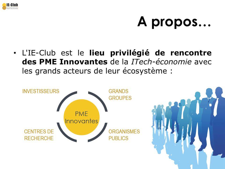 Leaders de la ITech-Economie Réussir à lInternational A propos… L'IE-Club est le lieu privilégié de rencontre des PME Innovantes de la ITech-économie