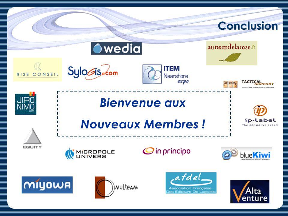 Conclusion Bienvenue aux Nouveaux Membres !