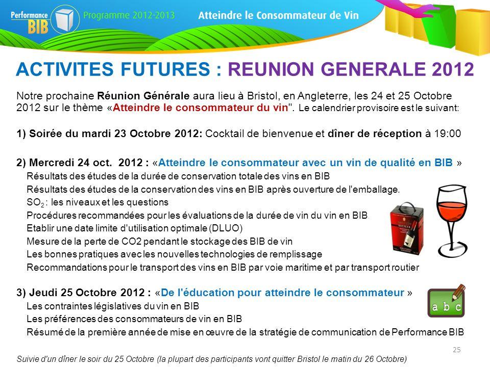 Notre prochaine Réunion Générale aura lieu à Bristol, en Angleterre, les 24 et 25 Octobre 2012 sur le thème «Atteindre le consommateur du vin