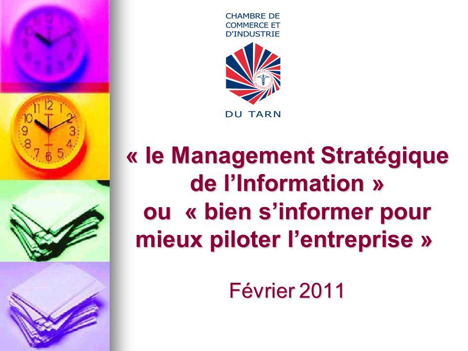« le Management Stratégique de lInformation » ou « bien sinformer pour mieux piloter lentreprise » Février 2011