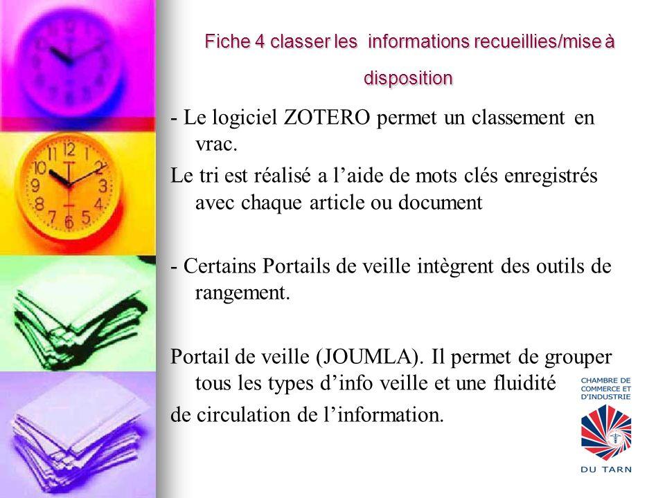 Fiche 4 classer les informations recueillies/mise à disposition Fiche 4 classer les informations recueillies/mise à disposition - Le logiciel ZOTERO p