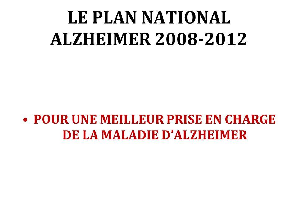 LE PLAN NATIONAL ALZHEIMER 2008-2012 POUR UNE MEILLEUR PRISE EN CHARGE DE LA MALADIE DALZHEIMER