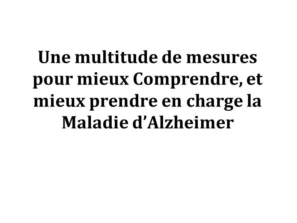 Une multitude de mesures pour mieux Comprendre, et mieux prendre en charge la Maladie dAlzheimer
