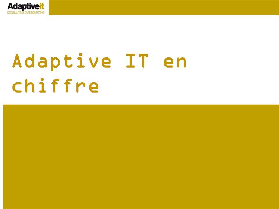 Adaptive IT en chiffre