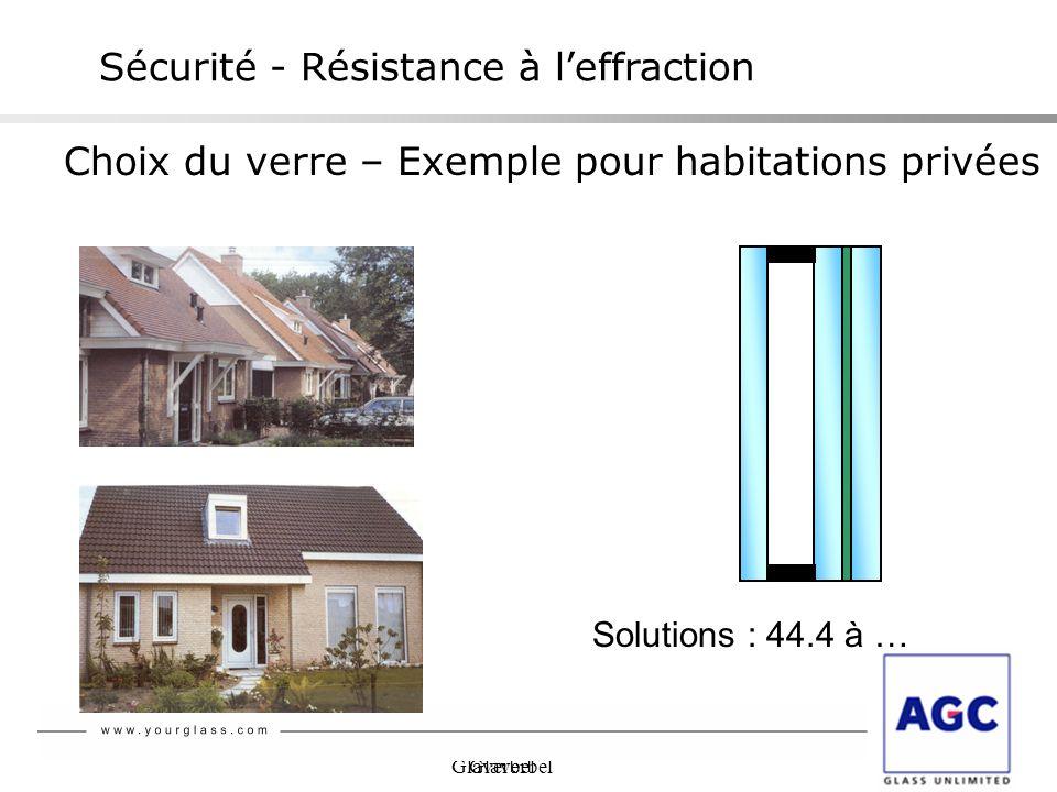 Glaverbel Choix du verre – Exemple pour habitations privées Solutions : 44.4 à … Sécurité - Résistance à leffraction