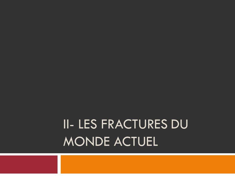 II- LES FRACTURES DU MONDE ACTUEL
