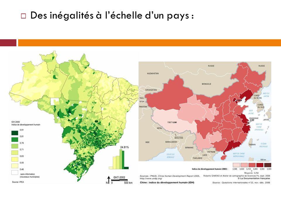 Des inégalités à léchelle dun pays :