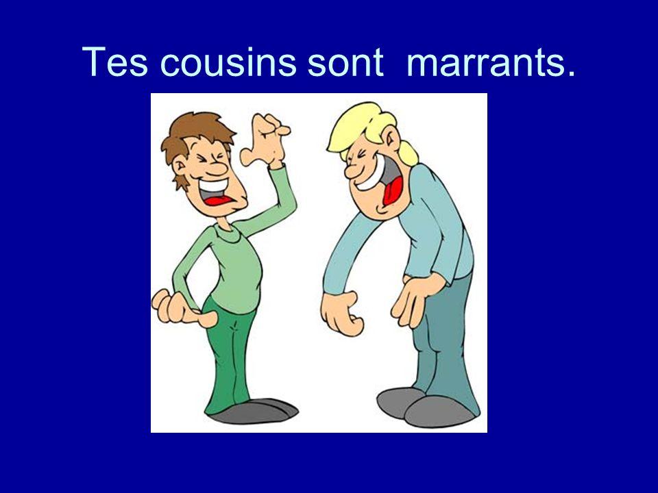 Tes cousins sont marrants.