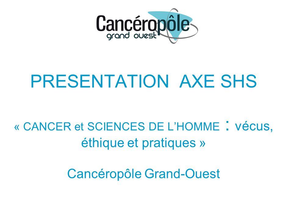 PRESENTATION AXE SHS « CANCER et SCIENCES DE LHOMME : vécus, éthique et pratiques » Cancéropôle Grand-Ouest