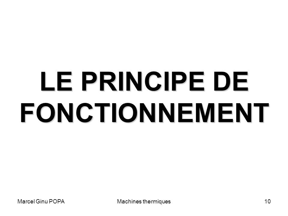 Marcel Ginu POPAMachines thermiques10 LE PRINCIPE DE FONCTIONNEMENT