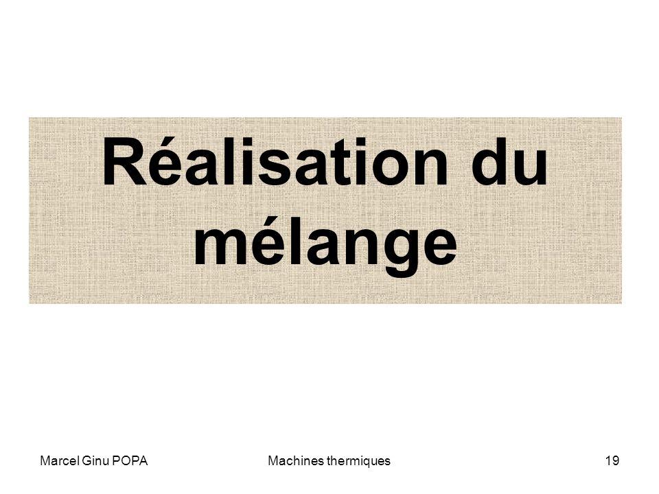Marcel Ginu POPAMachines thermiques19 Réalisation du mélange