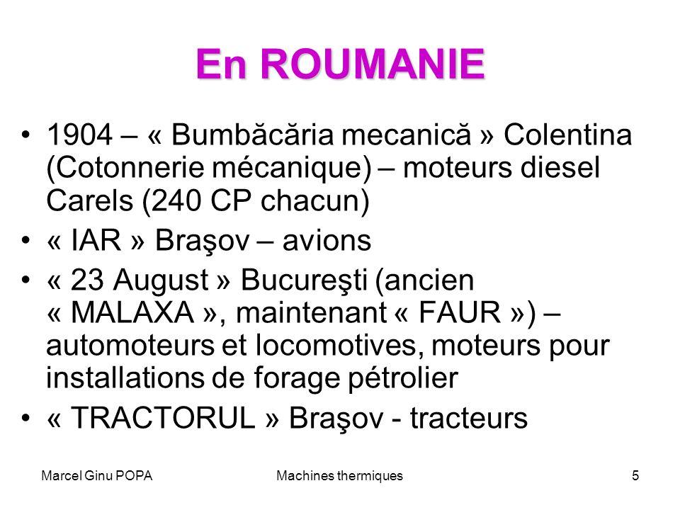 Marcel Ginu POPAMachines thermiques5 En ROUMANIE 1904 – « Bumbăcăria mecanică » Colentina (Cotonnerie mécanique) – moteurs diesel Carels (240 CP chacu
