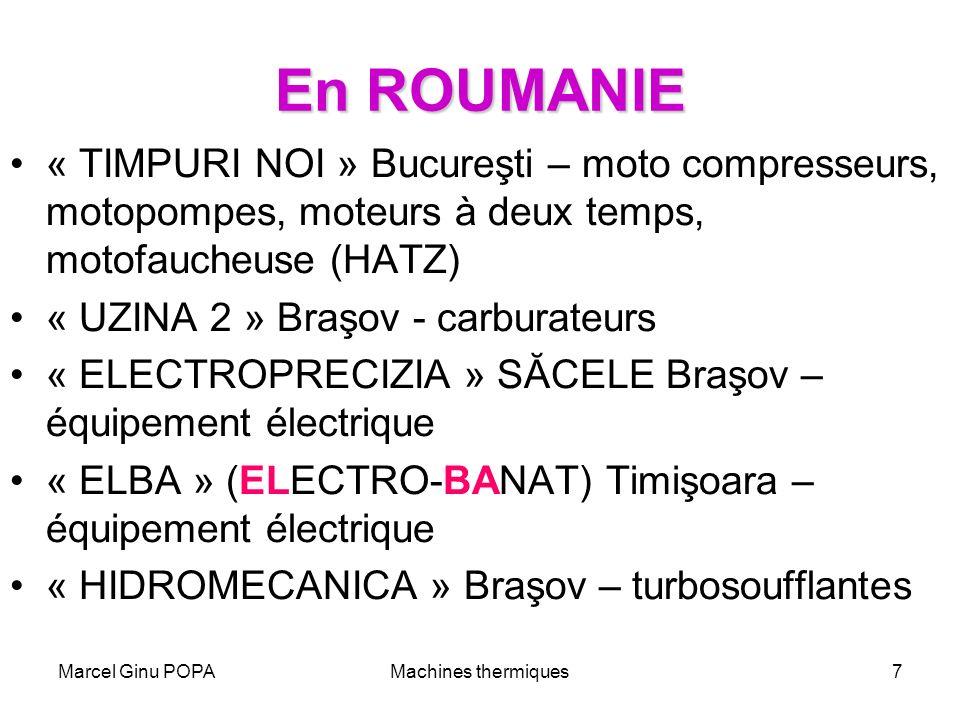 Marcel Ginu POPAMachines thermiques7 En ROUMANIE « TIMPURI NOI » Bucureşti – moto compresseurs, motopompes, moteurs à deux temps, motofaucheuse (HATZ)