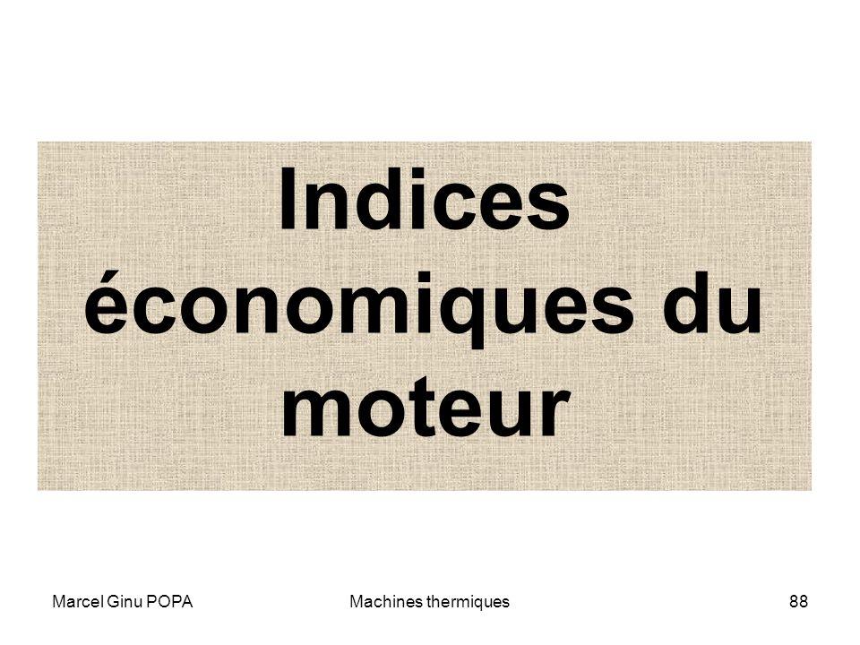 Marcel Ginu POPAMachines thermiques88 Indices économiques du moteur