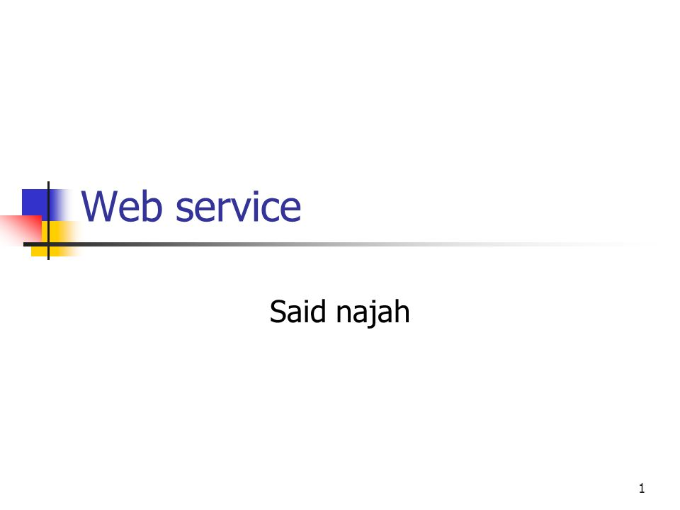 1 Web service Said najah