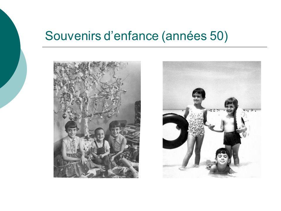 Souvenirs denfance (années 50)