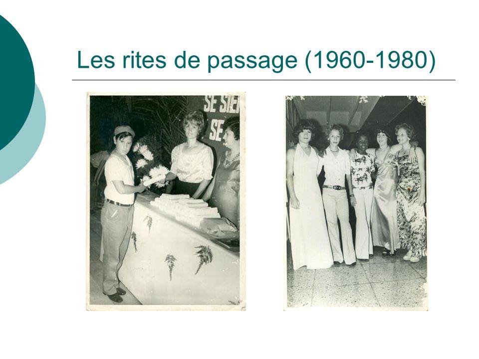 Les rites de passage (1960-1980)