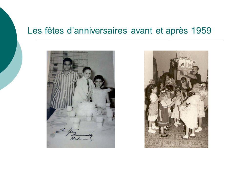 Les fêtes danniversaires avant et après 1959