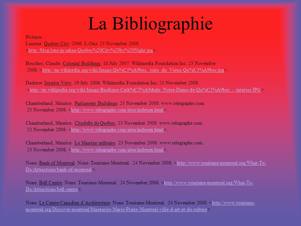 La Bibliographie Pictures: Laurent. Quebec City