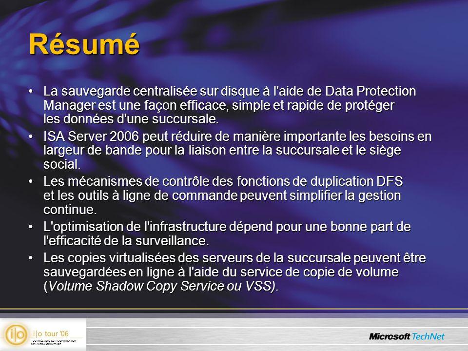 Résumé La sauvegarde centralisée sur disque à l'aide de Data Protection Manager est une façon efficace, simple et rapide de protéger les données d'une