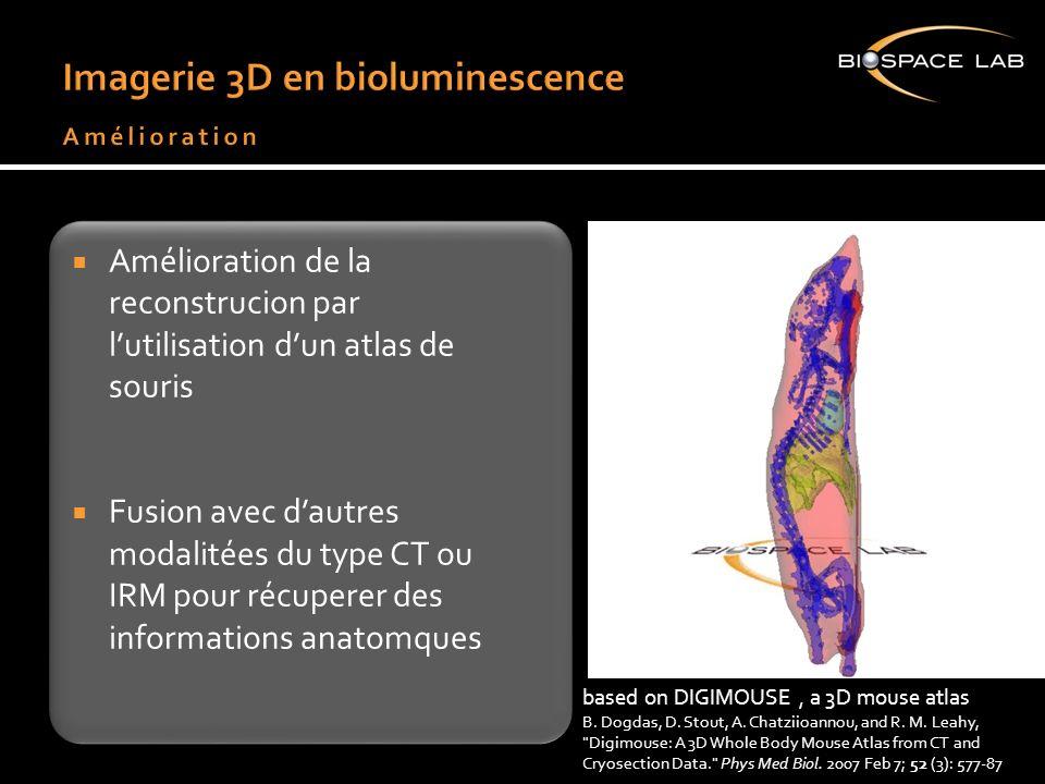 Amélioration de la reconstrucion par lutilisation dun atlas de souris Fusion avec dautres modalitées du type CT ou IRM pour récuperer des informations