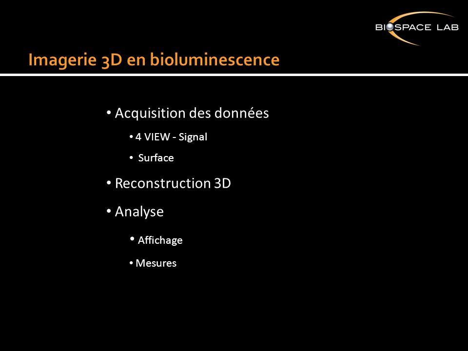 Acquisition des données 4 VIEW - Signal Surface Reconstruction 3D Analyse Affichage Mesures