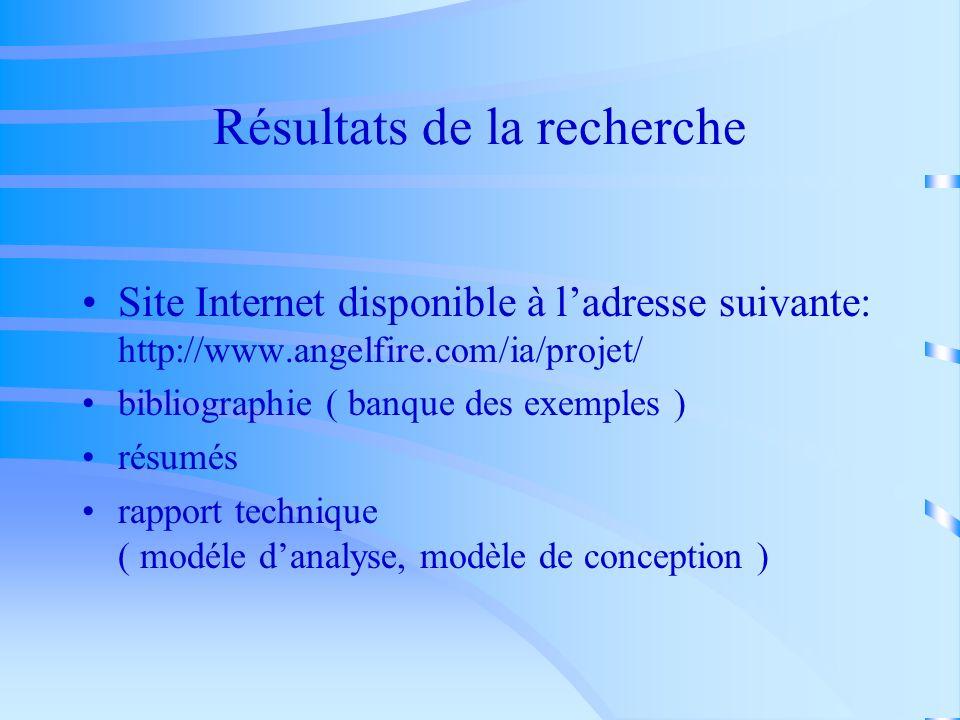 Outils de la recherche Bibliothéque scientifique ( banques de données ERIC, Current Contents, Ei- Compendex, Inspec,...PEB…) Internet ( sites intéress