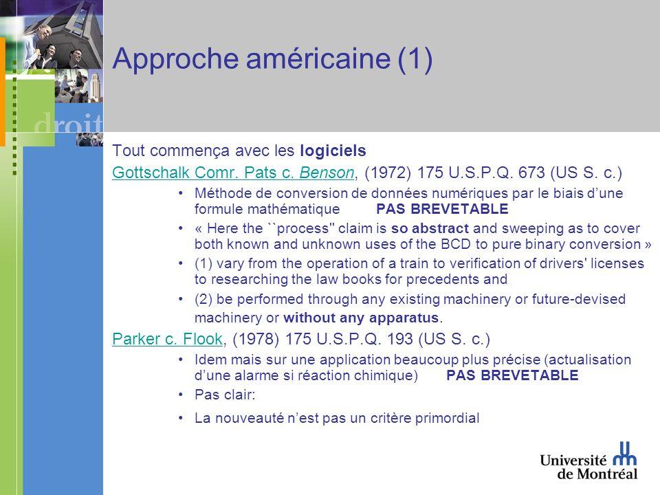 Approche américaine (1) Tout commença avec les logiciels Gottschalk Comr.