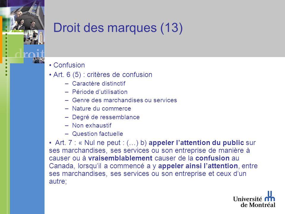 Droit des marques (13) Confusion Art.