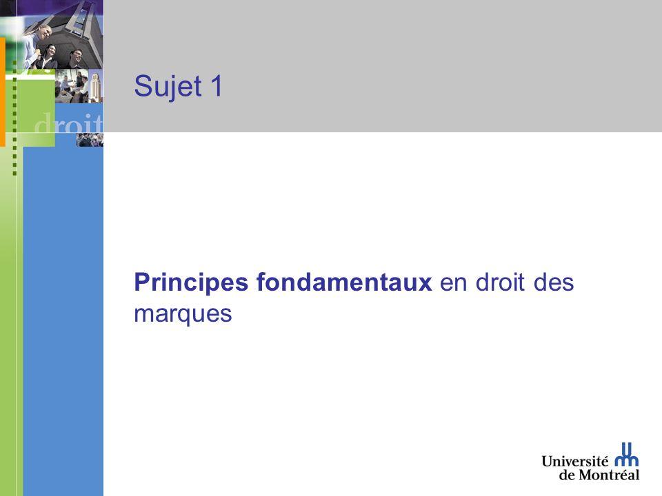 Sujet 1 Principes fondamentaux en droit des marques