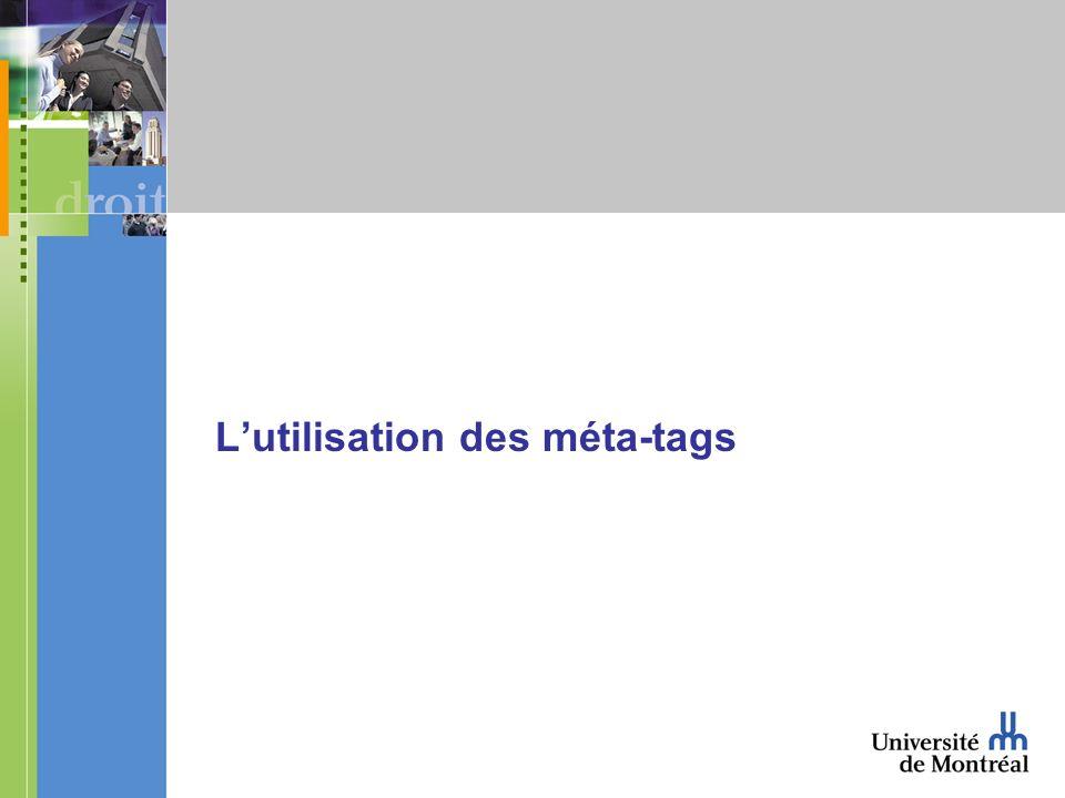 Lutilisation des méta-tags