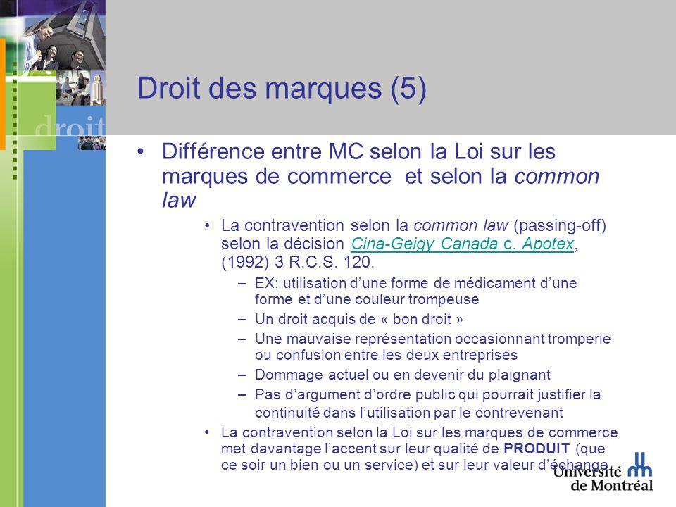 Résumé - Principes généraux en droit des marques Définition: « The protection of trade-marks is the law s recognition of the psychological function of symbols.