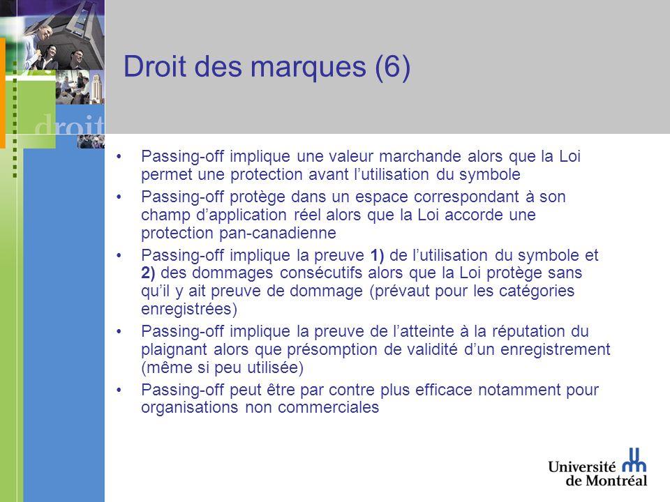 La procédure de règlement des différends (2) Trois objectifs majeurs Rapide (45 jours) (trop pour certains) Pas cher (environ $ 1 000 US) Uniforme et autre Acteurs susceptibles dêtre impliqués Plainte du demandeur Défense du défendeur Prestataire de service en règlement des différends ICANN Registraire Procédures élaborées (trois niveaux) ICANN REGISTRAIRE RÈGLEMENT FACULTATIF DU REGISTRAIRE Procédure obligatoire.