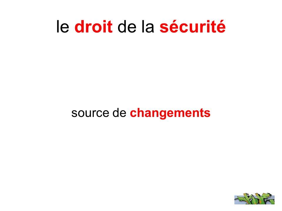 le droit de la sécurité source de changements