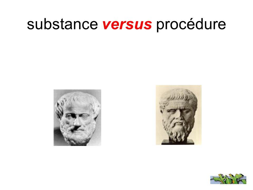 substance versus procédure
