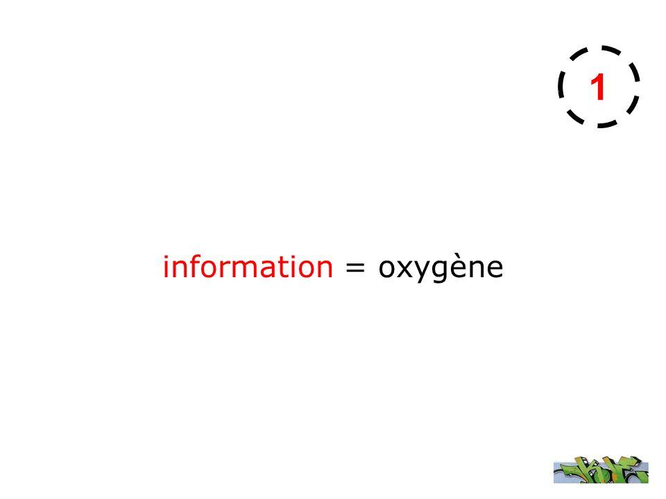 information = oxygène 1