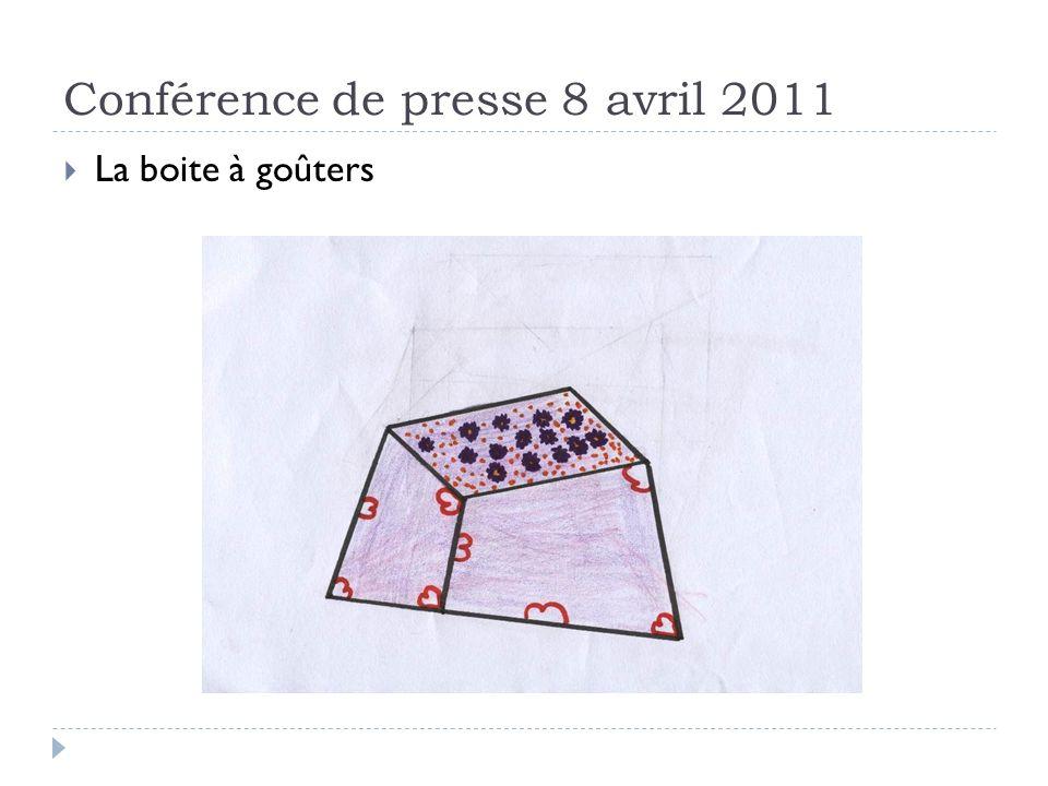 Conférence de presse 8 avril 2011 La boite à goûters