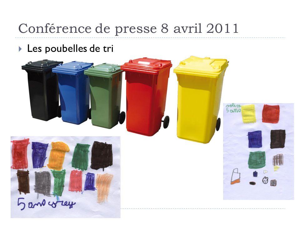 Conférence de presse 8 avril 2011 Les poubelles de tri
