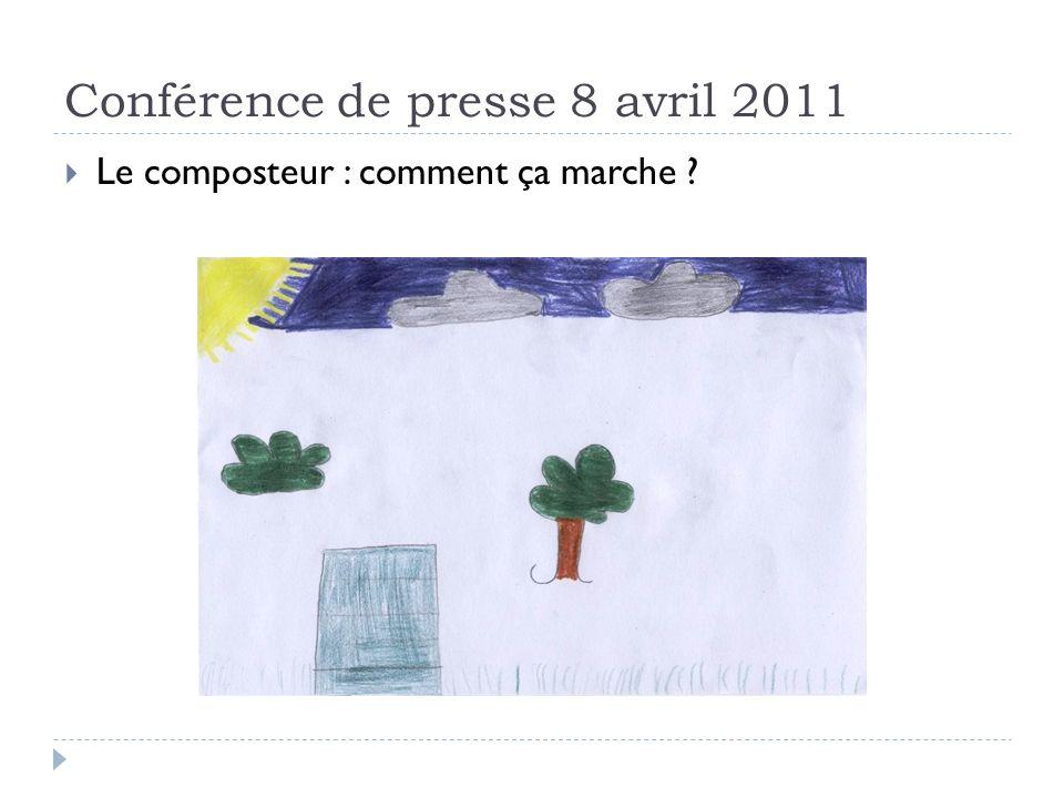Conférence de presse 8 avril 2011 Le composteur : comment ça marche ?