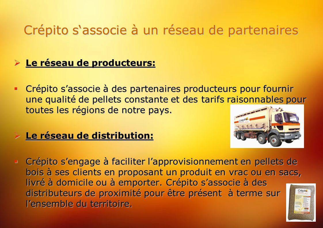 Crépito sassocie à un réseau de partenaires Le réseau de producteurs: Le réseau de producteurs: Crépito sassocie à des partenaires producteurs pour fournir une qualité de pellets constante et des tarifs raisonnables pour toutes les régions de notre pays.