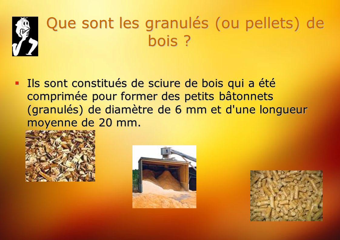 Que sont les granulés (ou pellets) de bois . Que sont les granulés (ou pellets) de bois .