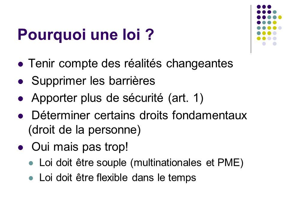 Principes généraux de la Loi La neutralité technologique (on ne favorise pas lun par rapport à lautre) (art.