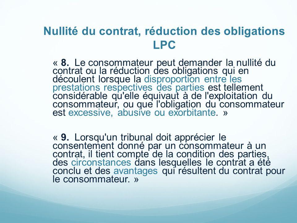 Contrat à distance 54.2.« Le contrat à distance est réputé conclu à l adresse du consommateur.
