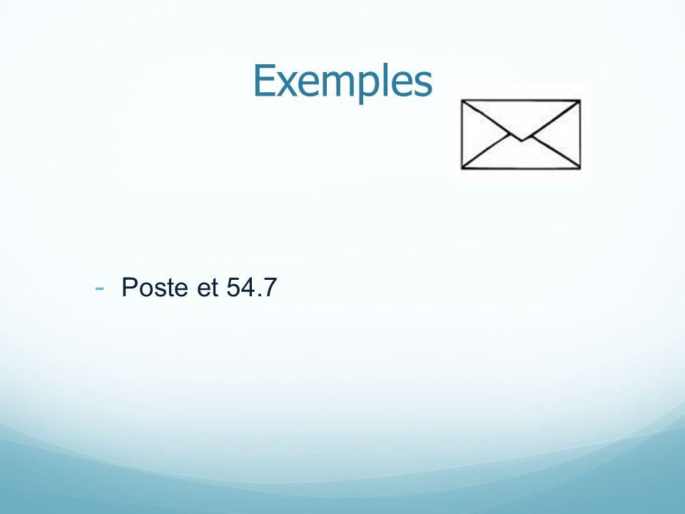 Exemples - Poste et 54.7